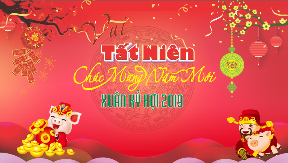 Happy New Year Viet Star 2019. Happy New Year Canh Ty 2020