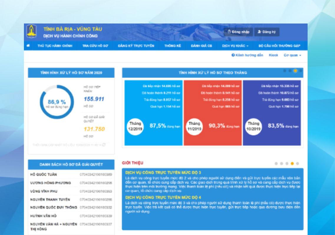 Sở TN & MT chính thức sử dụng cổng dịch vụ trực tuyến và vận hành tạm thời phần mềm Một cửa điện tử VNPT-iGATE trên địa bàn tỉnh Bà Rịa-Vũng Tàu.