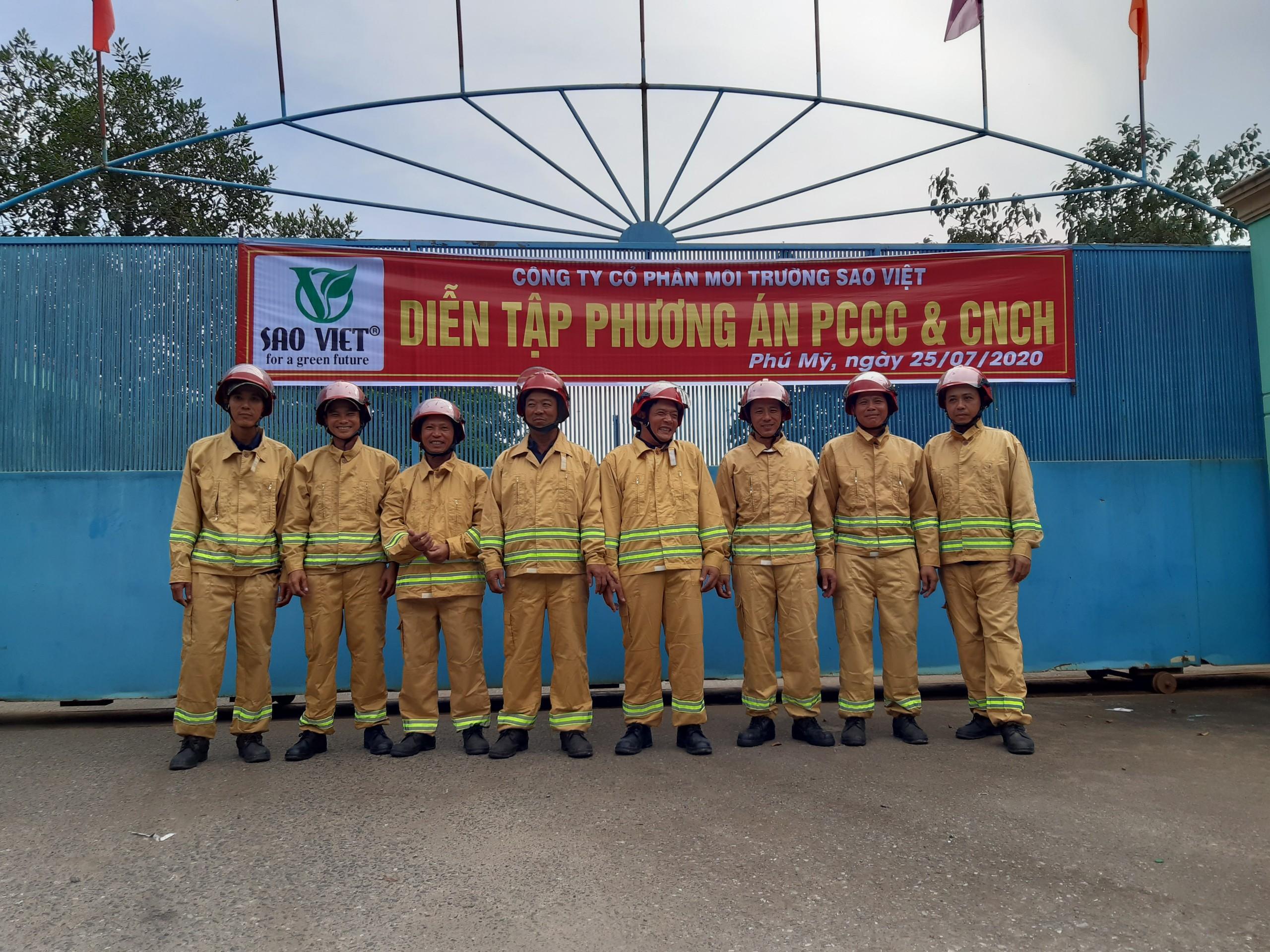 Diễn tập PCCC tại Nhà máy Sao Việt tháng 7/2020